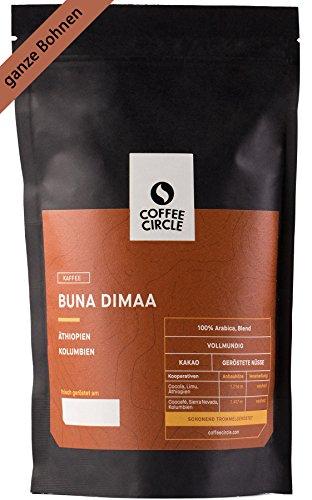 Coffee Circle | Premium Kaffee Buna Dimaa | 1kg ganze Bohne | Krftiger Bio Bohnenkaffee mit wenig Sure | 100% Arabica Blend | fair & direkt gehandelt | frisch & schonend gerstet