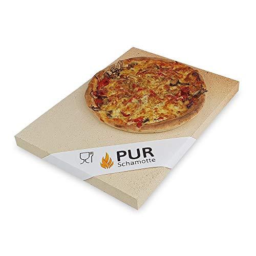 PUR Schamotte® Pizzastein Brotbackstein für Backofen Gas-Grill 40 x 30 x 3 cm Rechteckig Schamott*