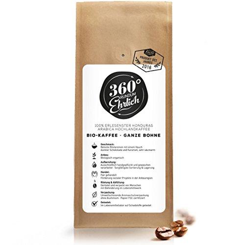 Premium Bio Kaffeebohnen preisgekrnt | Kstlich, sehr surearm und sehr besonders von 360 rundum ehrlich | Ganze Bohnen | - ideal fr Bulletproof Coffee I