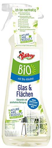 Poliboy - Bio Glasreiniger und Flächenreiniger – für eine glänzende und streifenfreie Reinigung von spiegelnden Oberflächen - Vegan – 500ml – Made in Germany