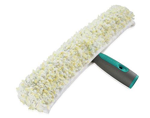 Leifheit Professional Einwascher 45 cm mit spezieller Reinigungsfaser, Fensterreiniger mit verstrktem Kunststoffgriff, Fensterwischer mit Klettband
