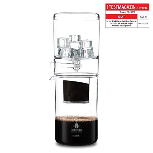 DRIPSTER Cold Brew Dripper (600ml), Kaffeemaschine, Cold Drip Coffee Maker fr kaltgebrhten Kaffee und Tee