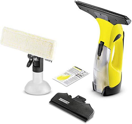 Krcher Akku Fenstersauger WV 5 Premium (Akkulaufzeit: 35 min, entnehmbarer Akku, 2 Absaugdsen - schmal/breit, Sprhflasche mit Mikrofaserbezug, Fenstereiniger-Konzentrat 20 ml)