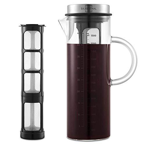 SILBERTHAL Kaffeebereiter - Cold Brew Coffee Maker fr kaltgebrhten Kaffee oder Tee - 1.3l