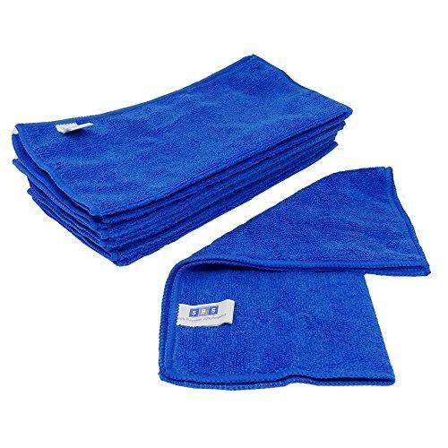 10 x SBS Mikrofasertcher 30 x 30 cm blau Microfasertuch Mikrofaser Tuch Microfasertcher