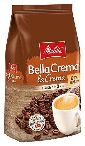 Melitta Ganze Kaffeebohnen, 100% Arabica, vollmundig und ausgewogen, Strke 3, BellaCrema LaCrema, 1kg