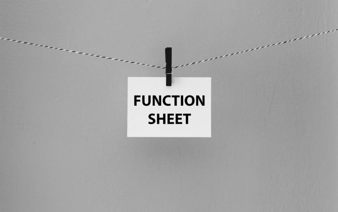 function sheet